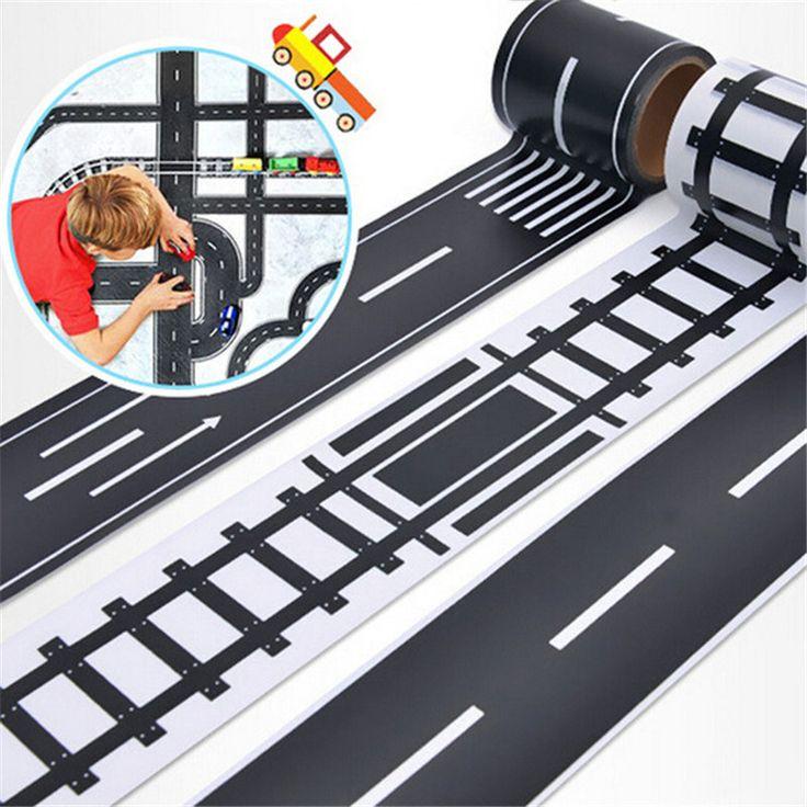 Eisenbahn Straße Washi Klebeband Aufkleber, breite Kreative Verkehrsstraße Abdeckklebeband, Scotch Straße Für Kinder Spielzeug Auto Spielen CX886400