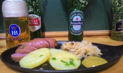 Crispirinha: Kartoffelsalat - salada de batata alemã