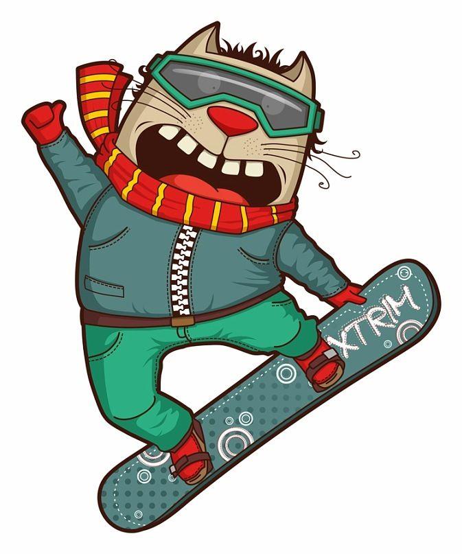 Прикольные картинки для сноуборда, мультимедийные