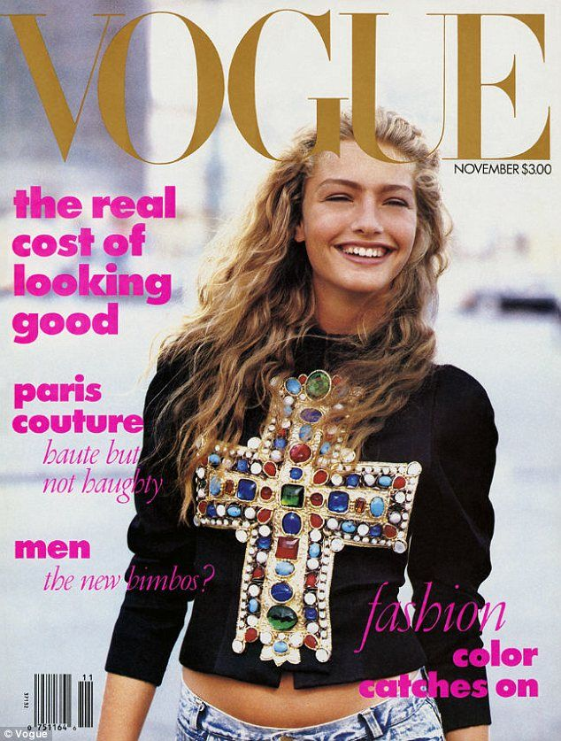 Unique: Anna Wintour's famous 1998 Vogue cover (above) featured the first cover model to wear jeans.