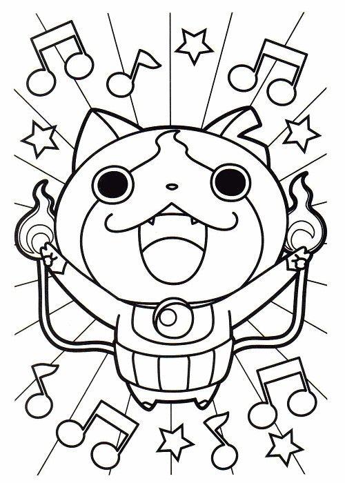 yo kai watch coloring pages - photo#49