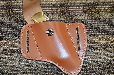 CUSTOM CONCEALED CARRY LEATHER RIGHT HAND CROSS DRAW SHEATH FOR THE BUCK 112