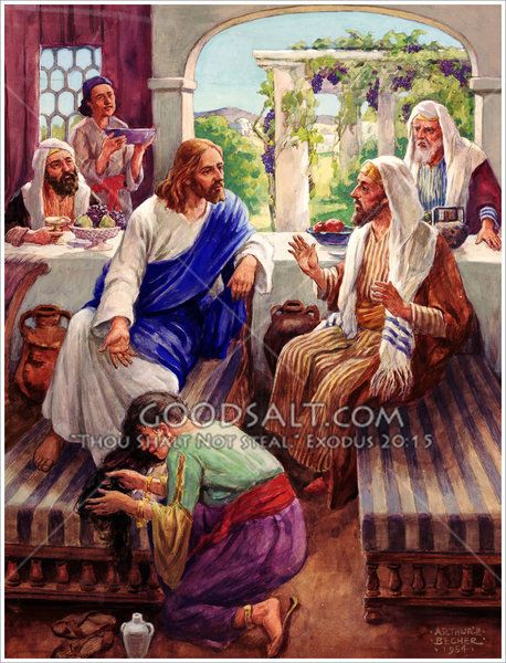 Mary Anointing Jesus' Feet