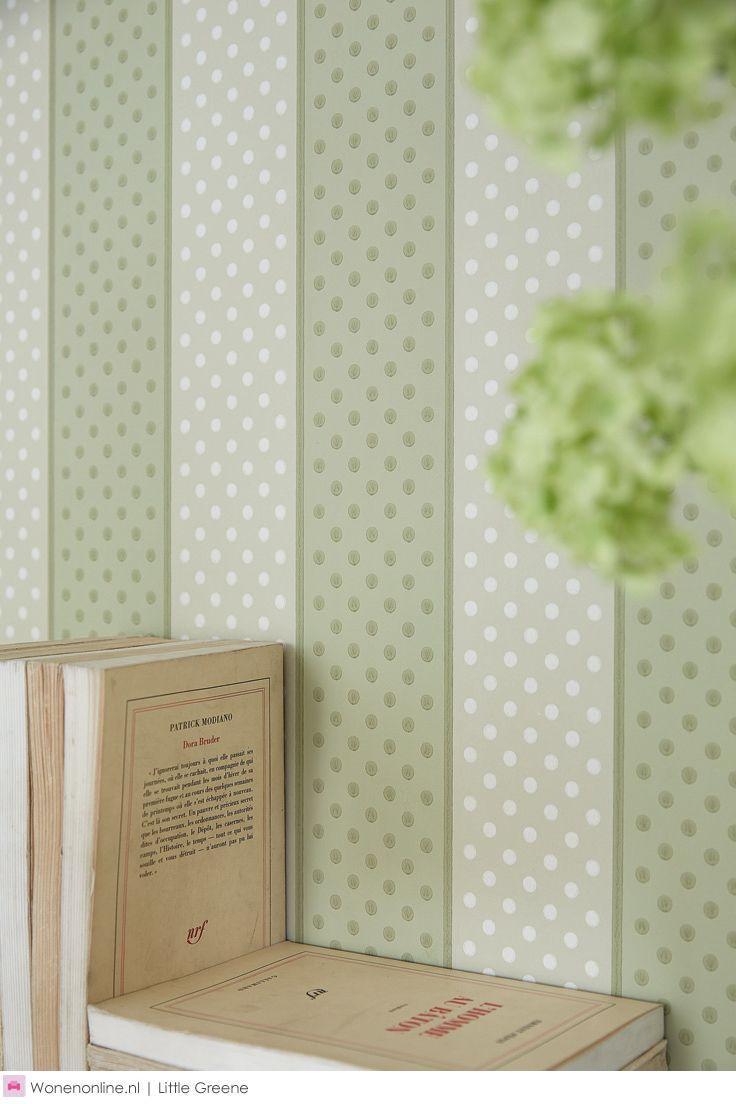 'Painted Papers' van Little Greene: een overtuigende collectie gestreept #behang, geproduceerd volgens traditionele drukmethoden. #interior #interieur #inspiration #home #deco