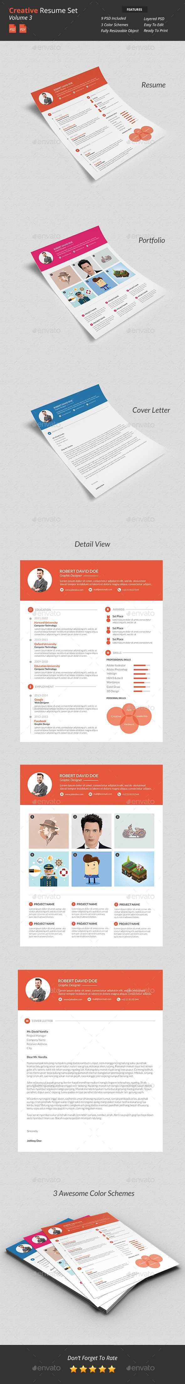 Creative Resume Set v3