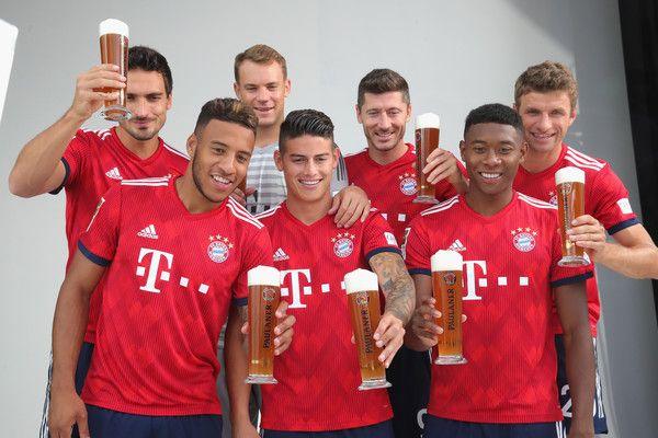 James Rodriguez, Manuel Neuer, Robert Lewandowski, Mats