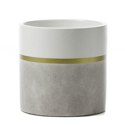 Stark Striped Pot Grey