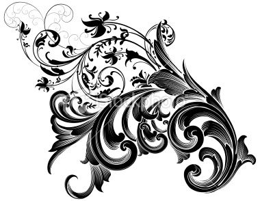 Scrolls Work - make a wonderful wall tattoo...