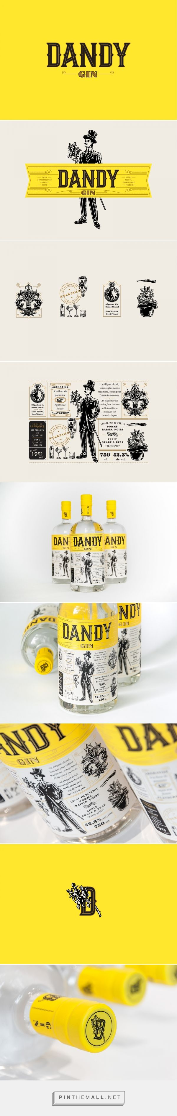 Dandy Gin packaging design by Polygraphe - http://www.packagingoftheworld.com/2017/11/dandy-gin.html