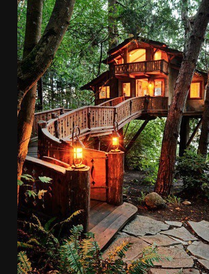 Tree house for kids or mommy and daddy? Love it!
