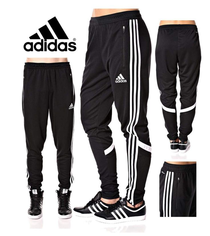 Adidas Soccer Pants Condivo 14 Slim Fit Training Climacool Black Skinny Athletic