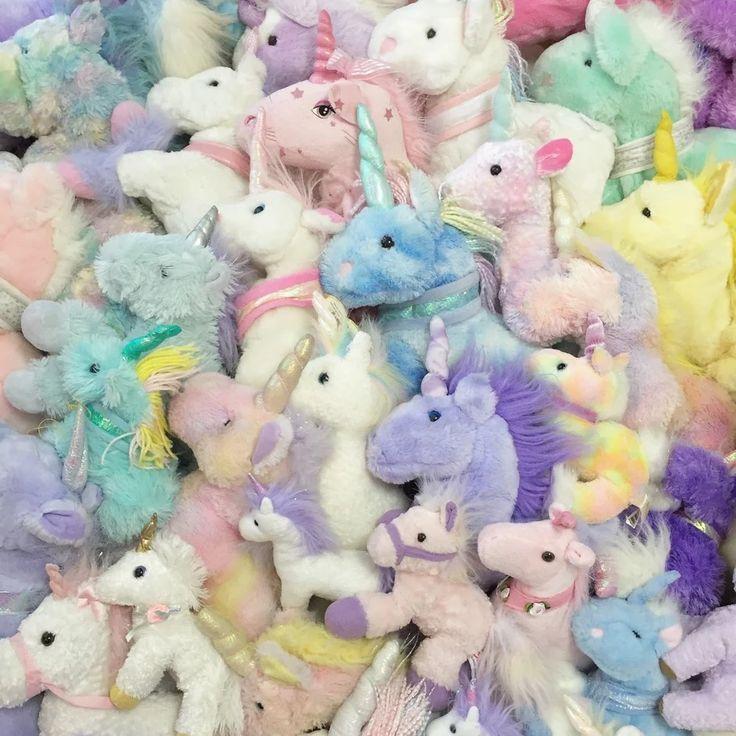 How many plush unicorns