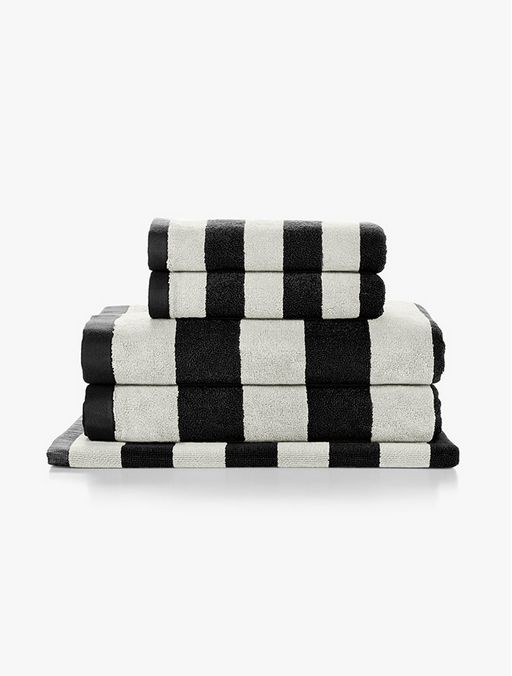 Stripes Black Towels by Aura | FRANKIE + COCO