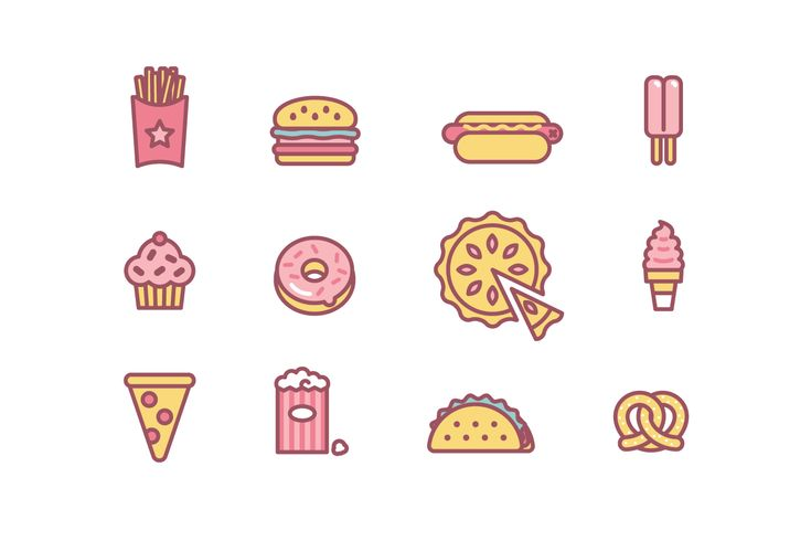 https://www.behance.net/gallery/26197077/Junk-food-icons
