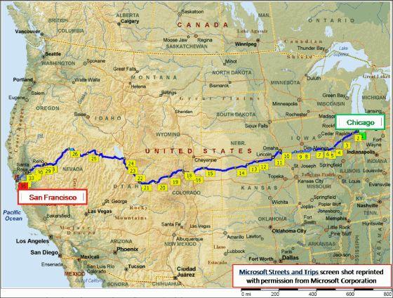california zephyr | California Zephyr Route Atlas - Rail Passenger USA train travel maps ...