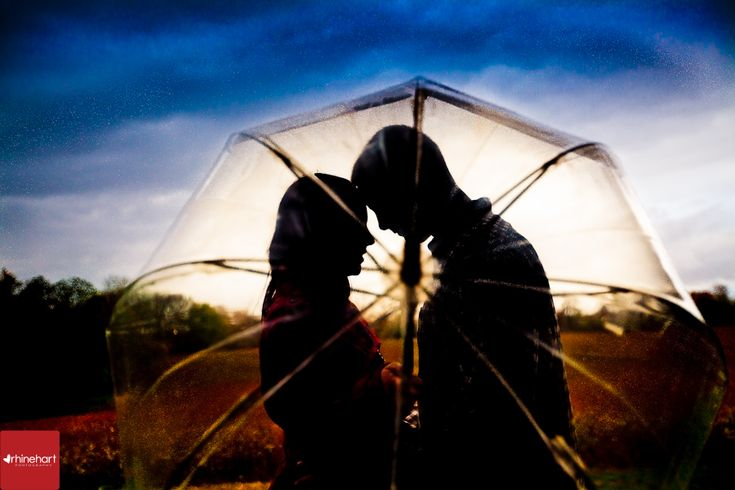Engagement in the rain: Bring an umbrella in case it rains during your engagement shoot.  Some of my favorite engagement photos have been taken during inclement weather.
