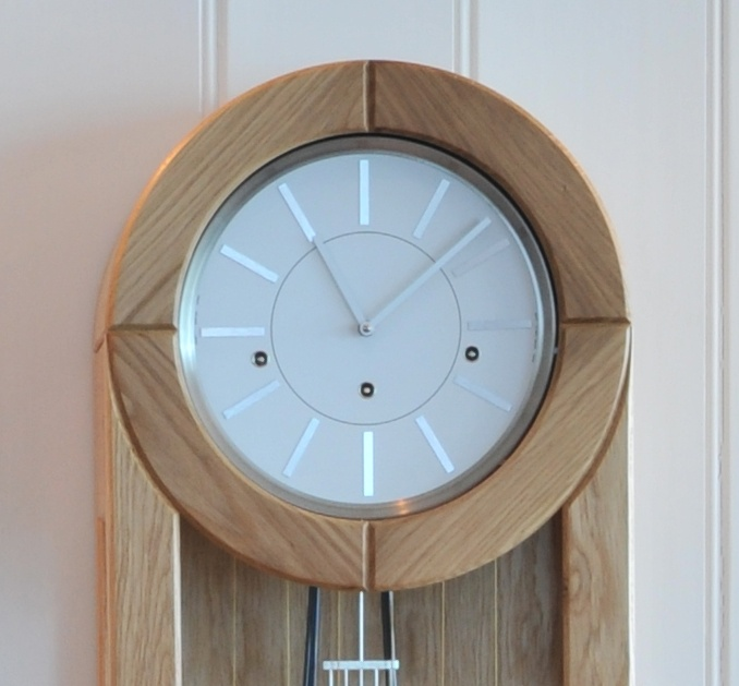 Brushed steel features, smooth lines, handcrafted and contemporary - the amazing Rocket Clock from www.charlieturnerdesign.co.uk