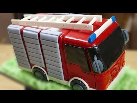 Feuerwehr Torte | Motivtorte | Fondanttorte | How to make a Fire Truck Cake - YouTube