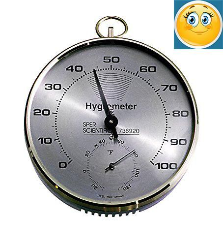 "Lab or Classroom #Hygrometer / #Thermometer is ideal for classroom, lab or industrial use. Large, clear, 20 ~ 100% RH scale on 4"" dial. Easily read from a distanc..."