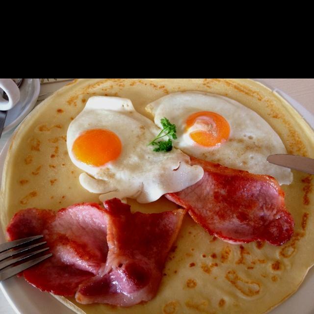 Pancake breakfast at The Dutch House, Crayke North Yorkshire