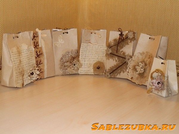 Подарочные пакеты из бросового материала тетрапак. Мастер-класс > Поделки своими руками для детей на Саблезубка.ру