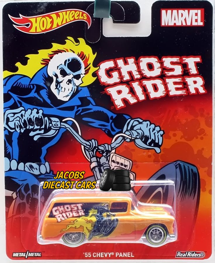 2016 HW Hot Wheels Pop Culture Marvel  - '55 CHEVY PANEL - GHOST RIDER #HotWheels #Chevrolet