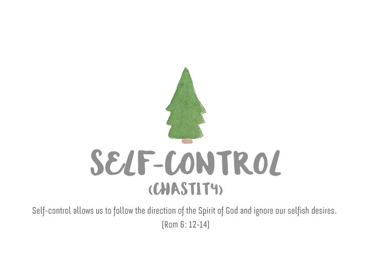 Self Control(Chastity), The Fruit of Holy Spirit