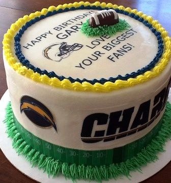 Best San Diego Chargers Cakes Images On Pinterest San Diego - Football cakes for birthdays