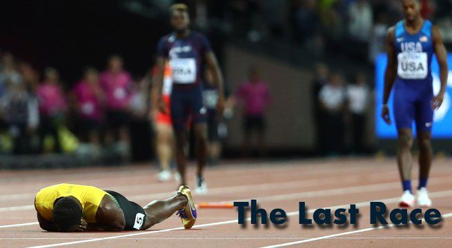 London: Usain Bolt's glittering career swansong came crashing to an end when he pulled up on the anchor leg of the world 4x100m relay won by Britain on Saturday. Bolt received the baton with Jamaica in third, but halfway down his leg the towering sprinter pulled up clutching his left...