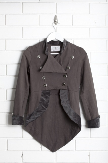 SanCerre Gallia Jacket (Charcoal) available online March 2013 www.sancerre.com.au