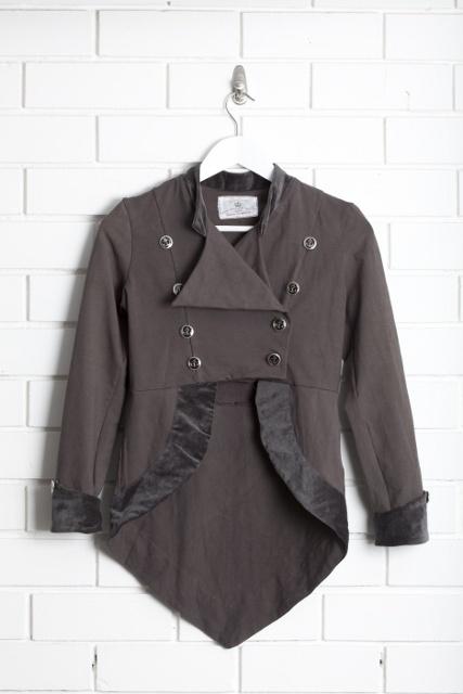 SanCerre Gallia Jacket (Charcoal) available online March 2013 www.sancerre.com.au