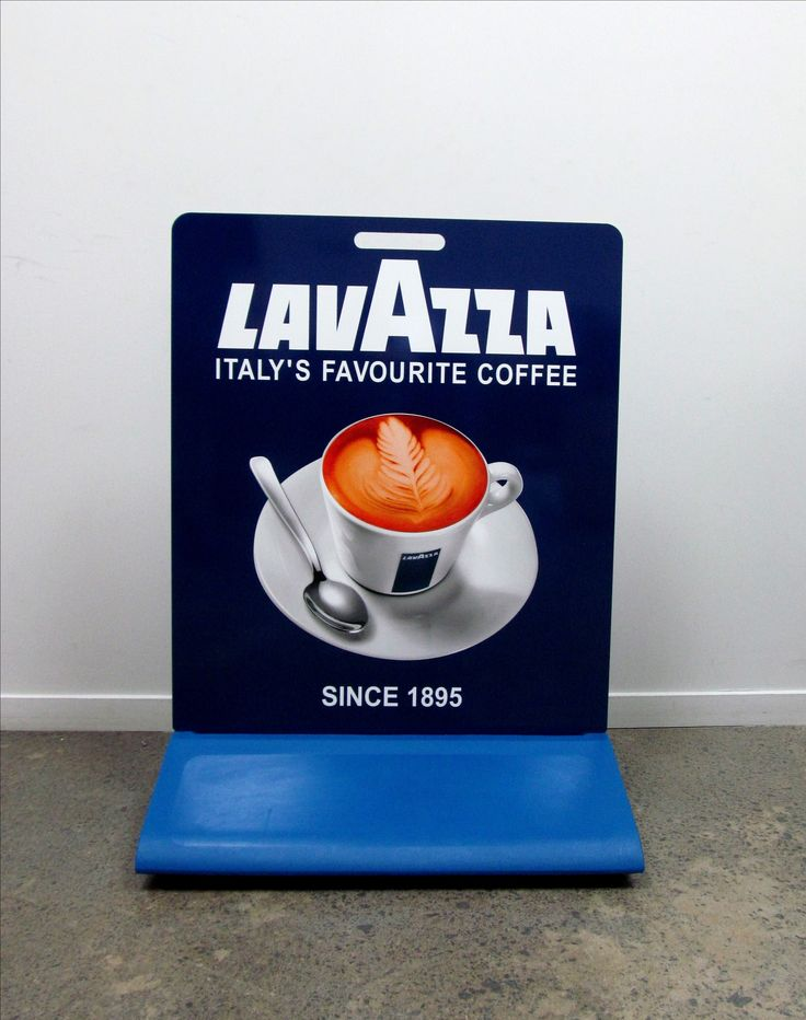 Footpath Sign for Lavazza by Speedy Signs Newton