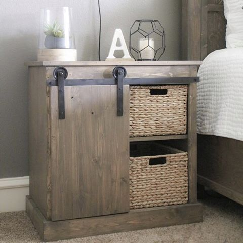 This nightstand... isn't she cute?! Build your own! Check out our YouTube tutorial! The link is…""