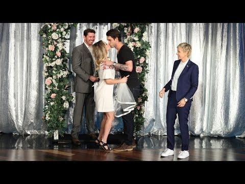 ▶ Kaley Cuoco Gets Married on 'Ellen' - YouTube