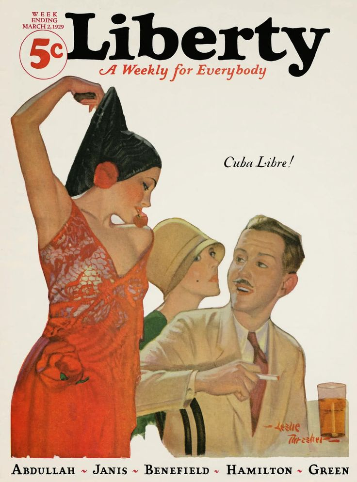 Liberty, March 1929 (Cover image, Cuba Libre! by Leslie Thrasher.)