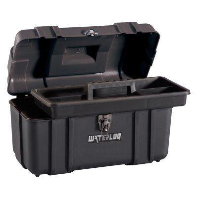 Waterloo 17 in. Plastic Tool Box - PP-1709BK, Durable