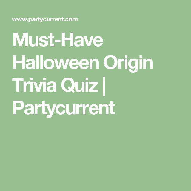 Must-Have Halloween Origin Trivia Quiz | Partycurrent