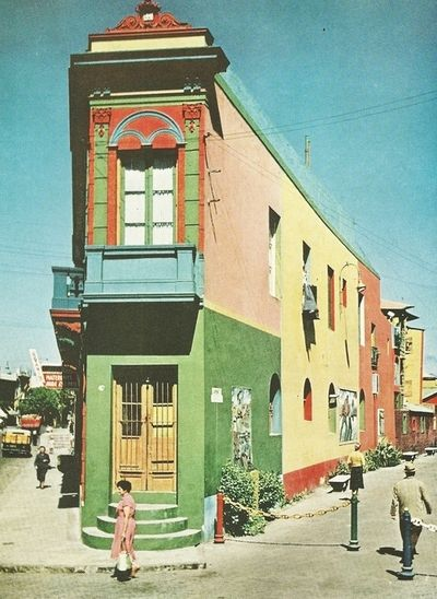 Building in the Boca neighborhood of Buenos Aires, Argentina, National Geographic | March 1958