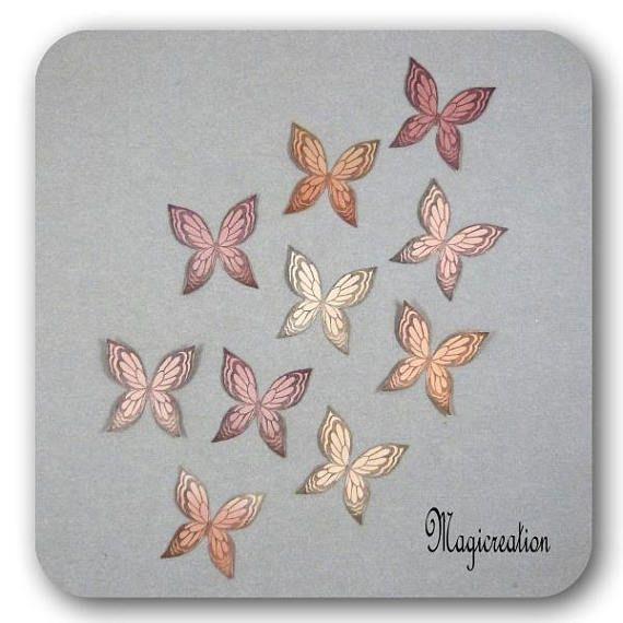 stickers ailes papillons soie 3.5 cm autocollantes harmonie