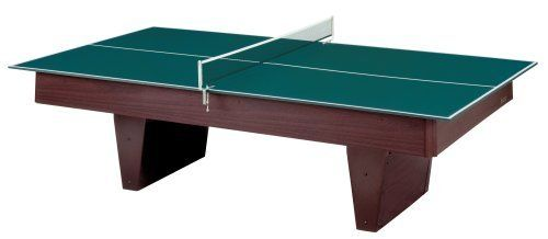 Stiga Table Tennis Conversion Top with Net and Posts by Stiga. $275.44. Amazon.com                Save money and space in your game room with the Stiga Table Tennis Conversion Top, which enables you to convert your billiards table into a hotbed of table tennis action. It fits pool tables sized 7 feet and 8 feet long. Its rubber strip-edging not only provides a sturdy surface, it also provides extra protection so you can be sure that this table will through years and years of fu...