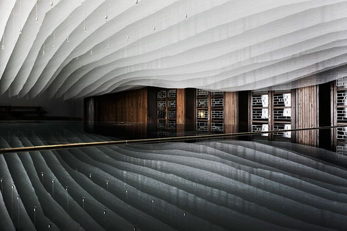 A Gym Is Transformed Into A Concert Hall In The Pannonhalma Archabbey, Hungary   photo © Tamás BujnovszkyInteriors Architecture, Interiors Design, Pannonhalma Archabbey, Archabbey Concerts, Dániel Baló, Concerts Hall, Architecture Design, Dániel Eke, Concert Hall