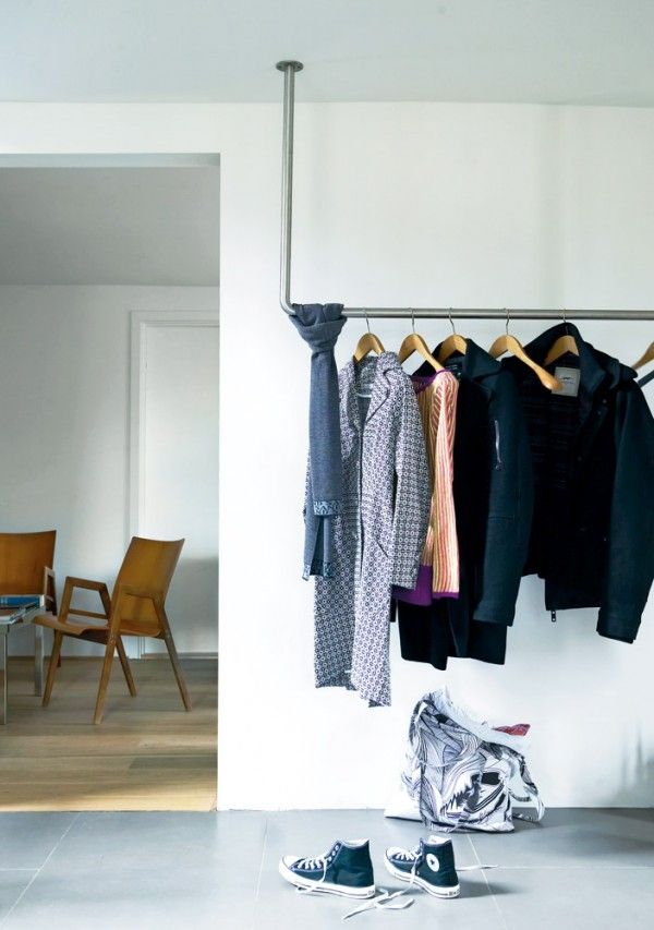 DIY clothing rack...add layers and enclose it with beautiful fabric?? More storage