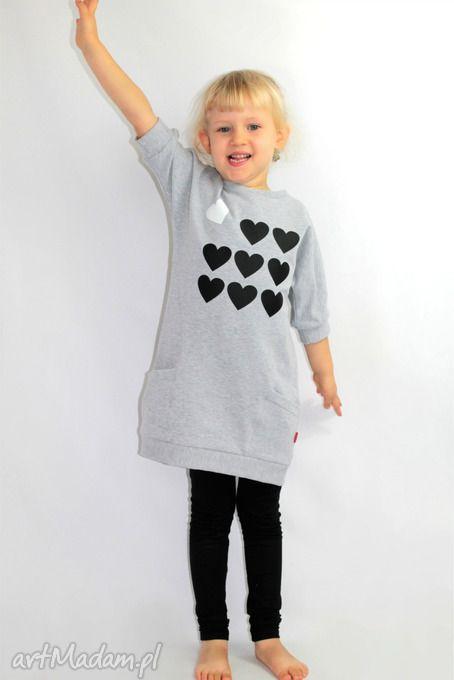 • gustowne ubranka, dla dziecka - tunika dresowa dziewczęca