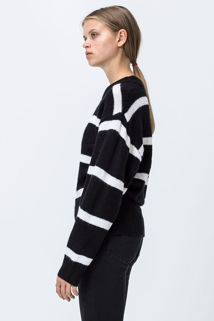 Cheap Monday Image 3 of Burn Wide Stripe Knit in Black