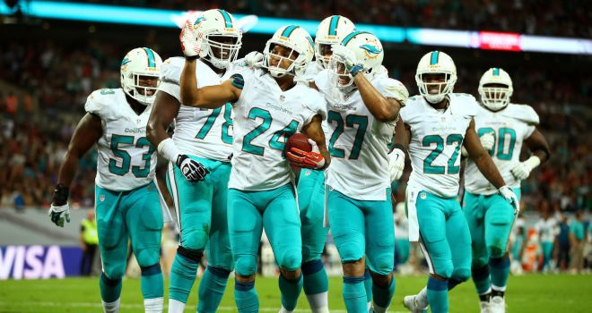 NFL: Ryan Tannehill and Miami Dolphins thrash Oakland Raiders at Wembley Stadium