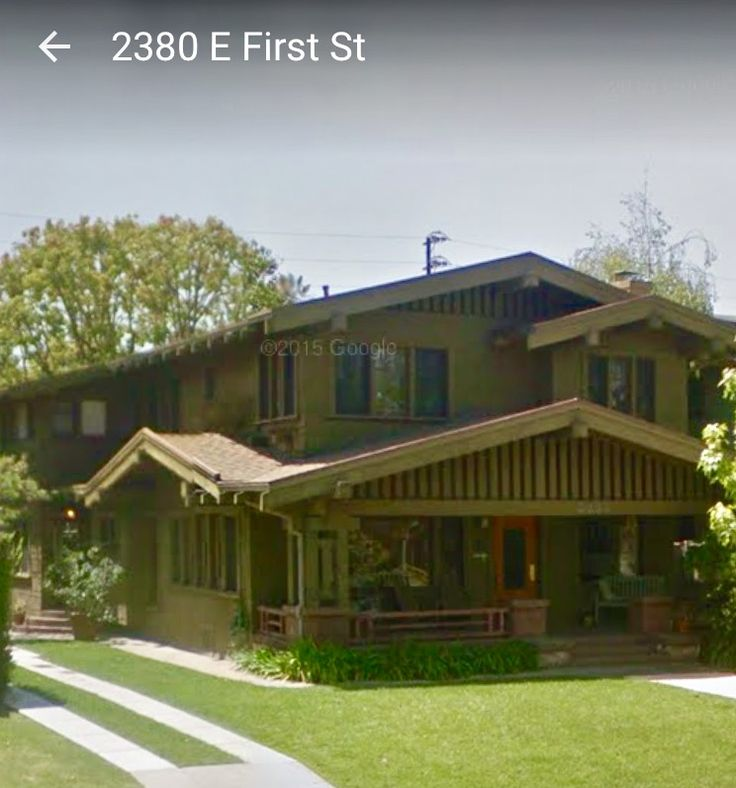 Craftsman House in Long Beach CA Used in ABC Family show The Fosters