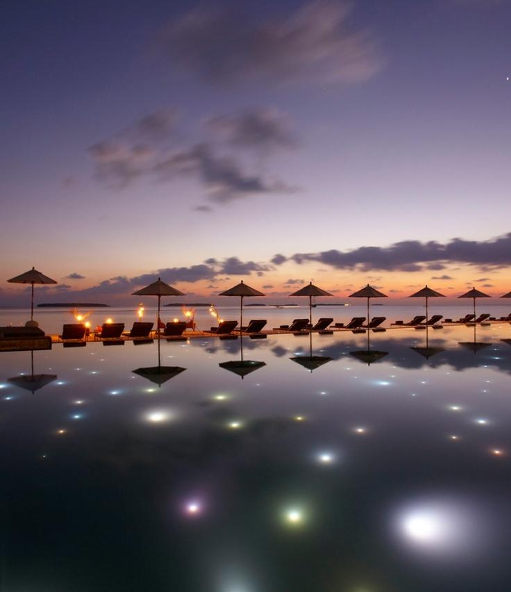 Beautiful Sunset in Baa, Maldives.