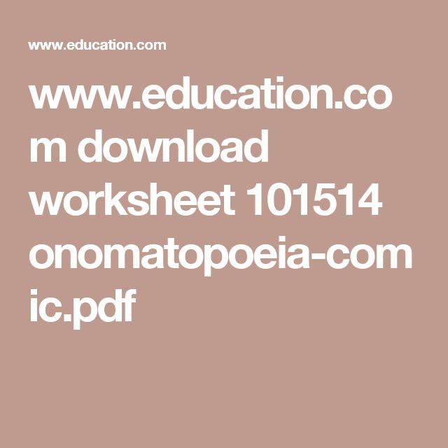 www.education.com download worksheet 101514 onomatopoeia-comic.pdf