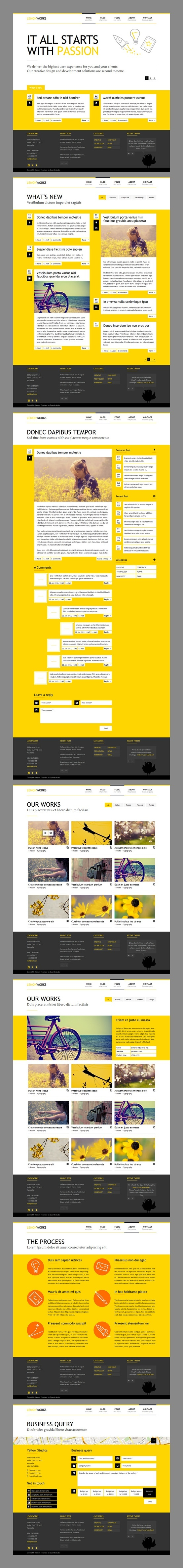 Lemon - Responsive Portfolio Template / by QuanticaLabs