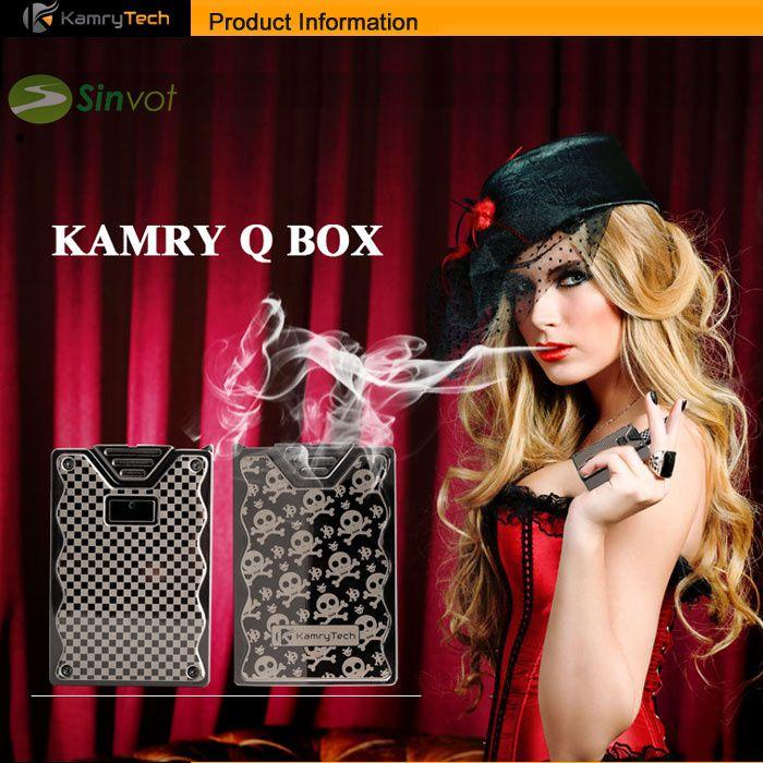 Original Kamry  e cig kamry q box mod 600mah for 0.3-9.9ohms 3.3-4.2V vaporizer high-end Zinc alloy #Affiliate